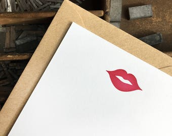 Sealed With A Kiss Letterpress Notes