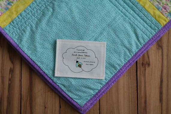 Quilt Patch Personalized Sewing Labels Personalized Quilt