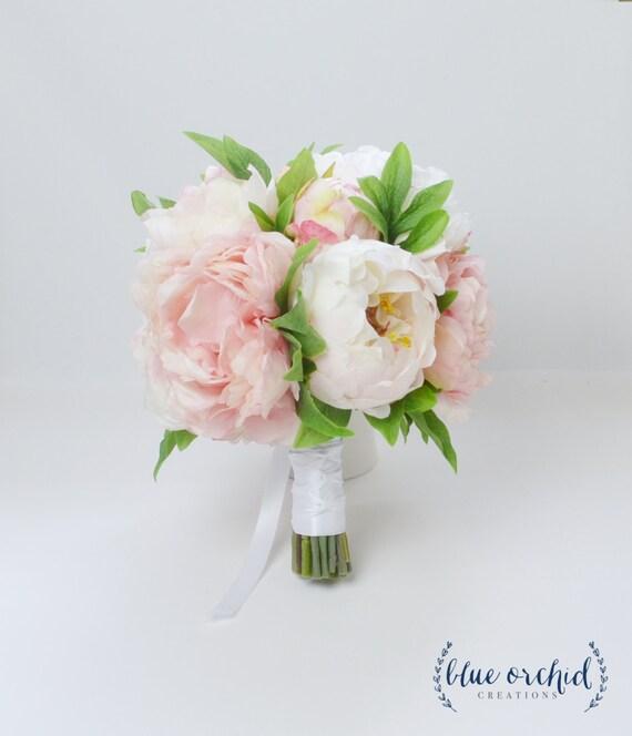 Peony bouquet wedding bouquet silk peonies silk flowers mightylinksfo Image collections