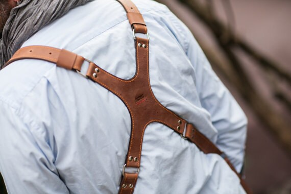 74street Photographer Leather Harness Dual Camera