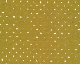 We Are All Stars - Cloud 9 Broadcloth -Ember Gold