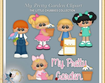 Spring Clipart, Chubbies, My Pretty Garden