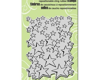 Star Stamp, Oh My Stars, Stampendous, Rubber Stamp, Background Stamp