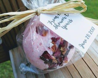 30+ Rose Bath Bomb- Rose Petals- Rose Quartz- shower favors- party favors- Bath Bombs -Bath Bomb -Favors- Baby Shower- Bridal Shower favors