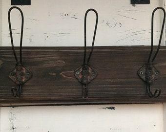 Rustic coat rack, farmhouse decor