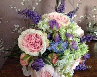 Artificial Rustic Country Rose Peony Bouquet