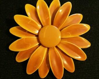 Lovely Enameled Flower Pin (Brooch)