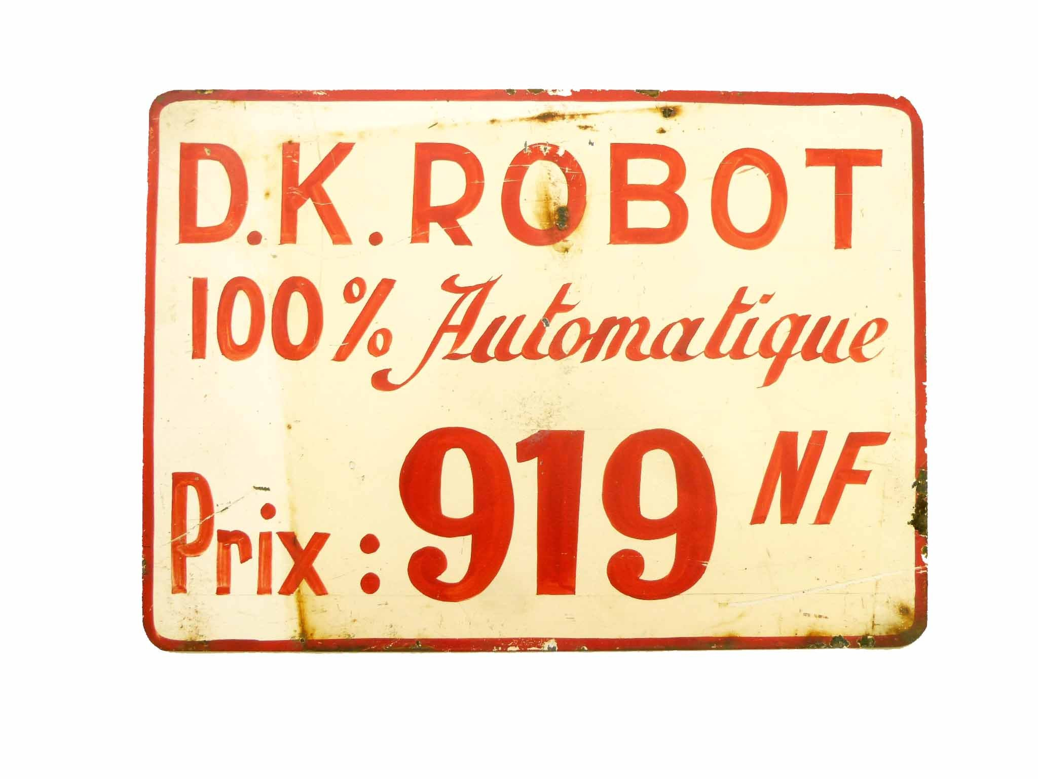 Rustic billboard sign industrial french mid century plate