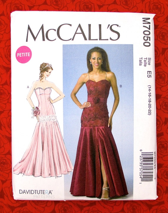 McCall\'s Sewing Pattern M7050 Special Occasion Dress Formal Gown ...
