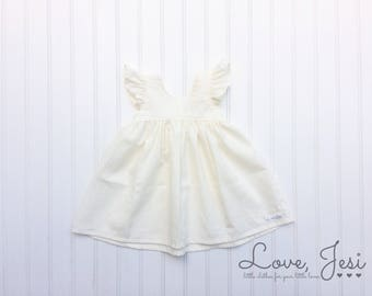 Toddler Girl Easter, Ivory Toddler Dress, Ivory Baby Dress, Little Girls Ivory Dress, Ivory Flower Girl Dress, Toddler Dress Wedding