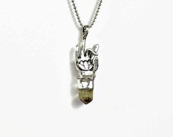 Unusual Meditation Jewelry For Women, Sterling Lotus Flower Jewelry, Akash Mudra Hand Gesture, Robin Wade Jewelry, Meaningful Jewelry,  2401