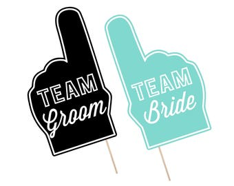 Printable Wedding Photo Booth Props . Team Groom/Bride . Wedding . Bachelor/Bachelorette . Bridal Shower . Turquoise . Instant Download