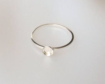 Sterling Silver Bezel  Ring Blanks in 3mm, 4mm, 5mm and 6mm, Stacking Ring Blanks, Sterling Silver Bezel, Jewelry Making Supply