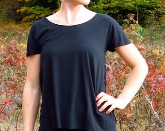 Organic T Shirt - Custom Made - Bamboo Top - Cap Sleeve Shirt