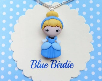 Disney Cinderella necklace Disney jewelry Disney necklace cinderella jewelry Disney jewellery Cinderella pendant necklace Disney gifts