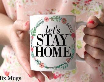 Coffee Mugs with Sayings, Coffee Mugs with Quotes, Pretty Floral Mugs, Housewarming Gifts, Wedding Gifts, Cute Mugs, Ceramic Mugs (Q1111)