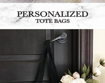Bridesmaid Tote Bag - Personalized Bridesmaid Gift Bags - Maid of Honor Tote Bag - Personalized Tote Bag - Bridal Party Totes (EB3216P)