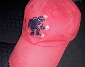 Sale!! Vintage Keith Haring Big Logo cap hat Red
