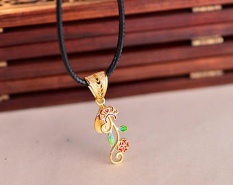Sterling Silver Pendant Pinch Bail Long-Lasting 24K Gold Plated 925 Silver Cloisonne Filigree Bail Connector P011B
