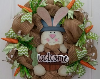 Very Bunny Welcome Easter Wreath