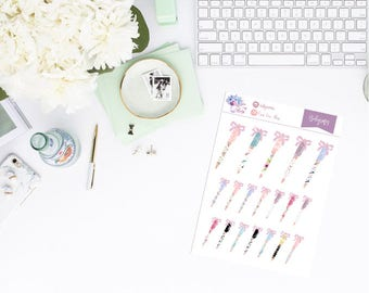 Clipart pens//decorative stickers for calendar, diary or scrapbooking. Planner stickers. For Midori, planner, Traveler Notebook.