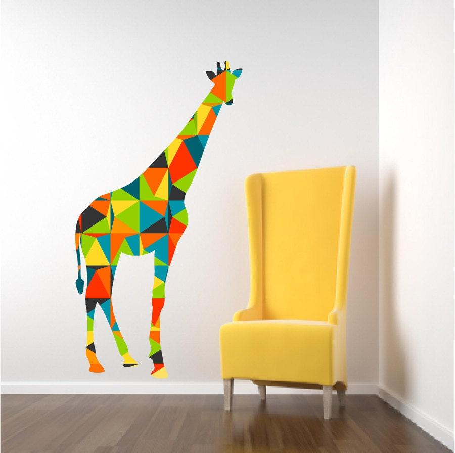 Giraffe Wall Decal Nursery Wall Decal Geometric Giraffe