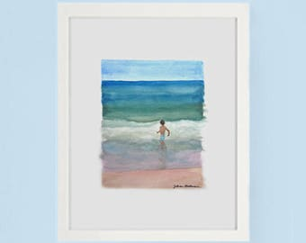 Art Print Dancing with the Waves in Fire Island