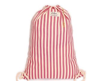 Ochos | Pink Stripes Sack Bag