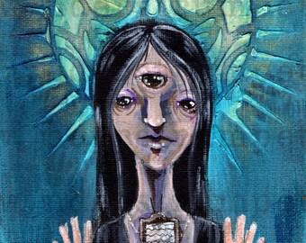 Strange Saints Art Print - Internetia the Watchful