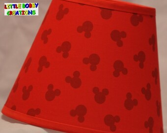 Mickey mouse lamp etsy more colors disney mickey mouse fabric lamp shade aloadofball Choice Image