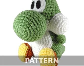 PATTERN Yoshi Amigurumi Crochet Plush PDF