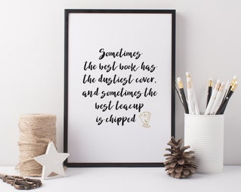 Beauty & the Beast Quote - Chip and Mrs Potts Quote Print - Disney Art Print - Sometimes Art Print