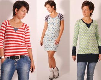 eBOOK #83 RAGLAN. shirt4us double sizes XS-XXXL