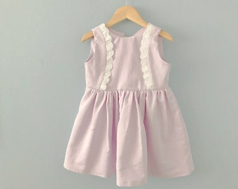 Ready to Ship, Cafetite Girls Dress, Girls Spring Dress, Lilac Dress, Toddler Dress, Girls Easter Dress, Girls Purple Dress, Lace Dress 2T