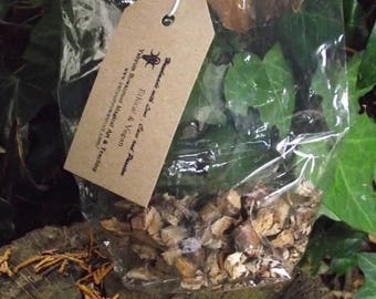 Hazel Wood and bark - natural magic- witch-witchcraft - druids- wicca- pagan