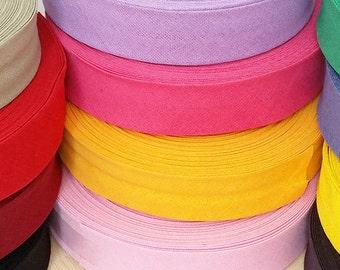 "1"" (25mm) x 25 mtr cotton bias binding bunting quilt sewing edging trimming tape"