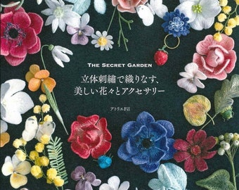 3D embroidery and beautiful floral designs Japanese Craft Book BK227