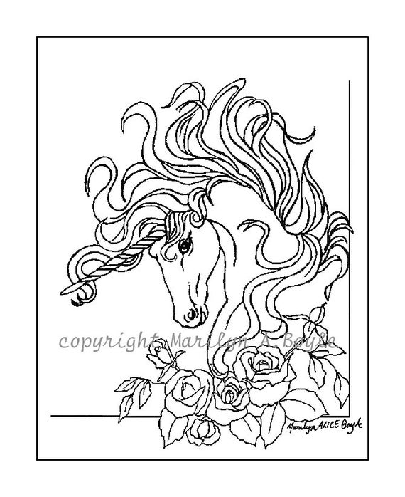 Rose Garden Coloring Pages