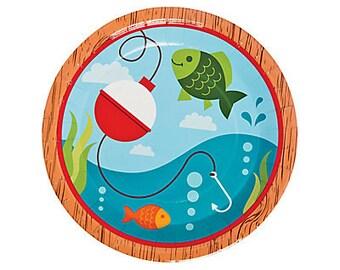 My Fishing Party Dinner plates / fisherman / fishing / fish