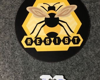 Resist for Bees Magnet