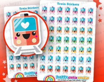 49 Cute Train/Transport/Commute Planner Stickers, Filofax, Erin Condren, Happy Planner,  Kawaii, Cute Sticker, UK