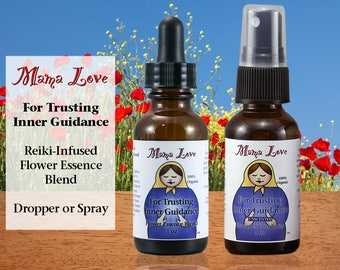 Trusting Intuition, Flower Essence Dropper or Spray, Organic, Reiki-Infused North American Flower Remedy for Trusting Inner Guidance, Spirit