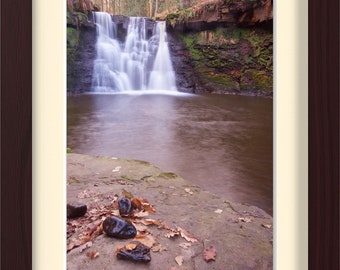 Framed Photographic Fine Art Print. Waterfall. 3 Frames to pick from. FREE post UK