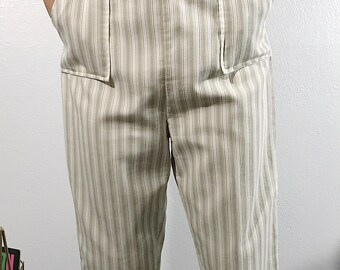 1950s striped capris