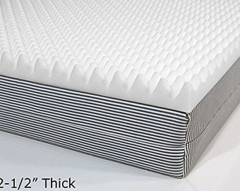 Professional Eggcrate Foam Topper Full 2- 1/2 X 54 X 75 White