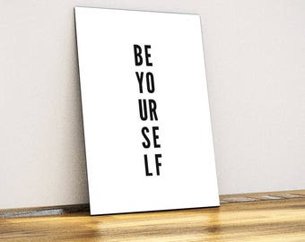 Be Yourself Typographic Metal Wall Art - Wall Decor - Home Decor