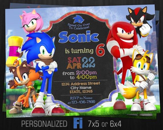 Sonic invitation sonic birthday party sonic knuckles filmwisefo