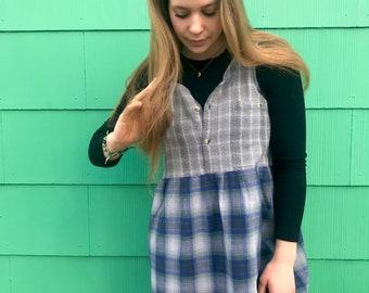 Öko-Kunst Kittel, Tank, Größe M/L-Baumwoll-Kleid, Mini Tank Kleid, Pullover Kleid, urban Tunika, gewebte Kleid, minimalistischen Kleid, Zasra