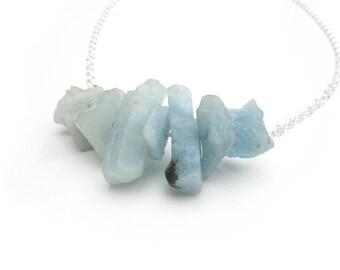 Amazonite Stone Chunk Necklace