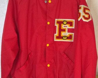 Vintage 1980s Letterman Jacket by DeLong XL, Cardinals Sports Centers Lubbock TX